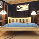 Kingsize Rockland Bed in Tiger Maple
